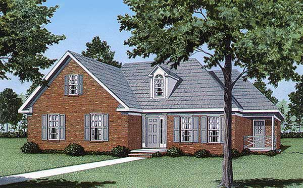 Traditional House Plan 45222 Elevation