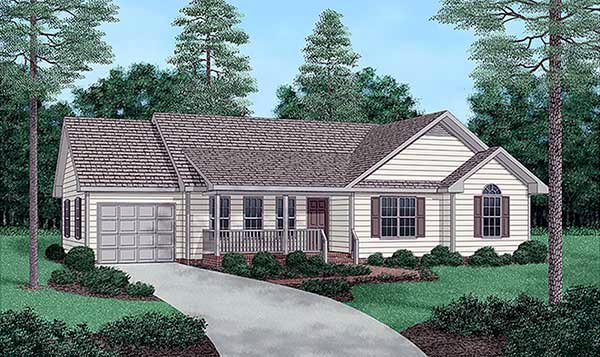 Ranch House Plan 45235 Elevation