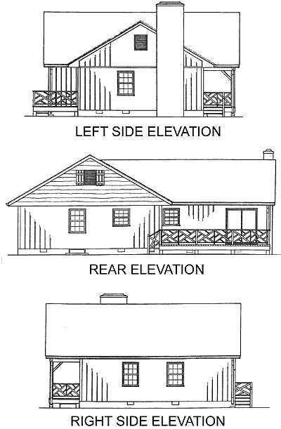Ranch Traditional House Plan 45241 Rear Elevation