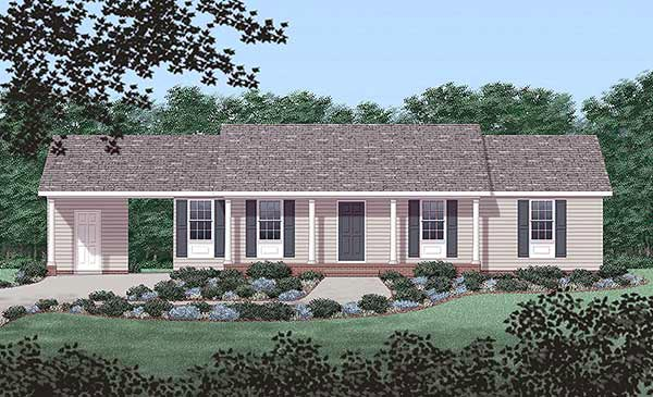 Ranch House Plan 45243 Elevation