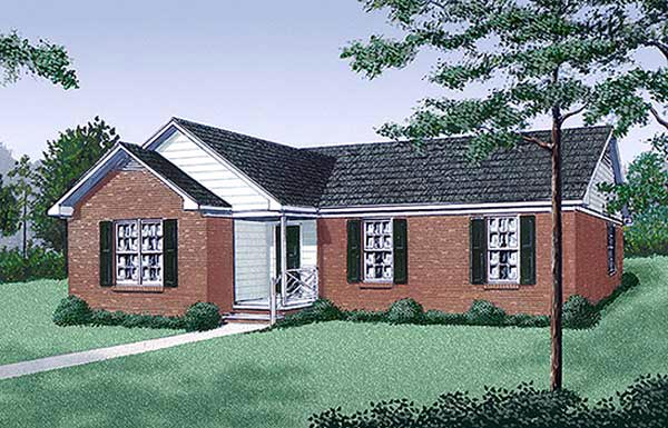 Ranch Traditional House Plan 45246 Elevation