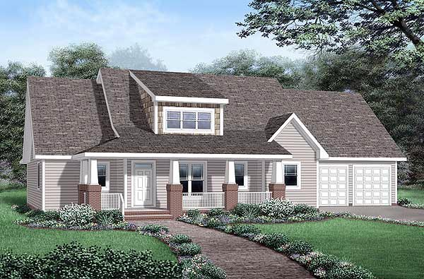 Bungalow House Plan 45252 Elevation