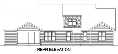 Bungalow House Plan 45252 Rear Elevation