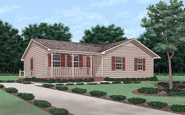 Ranch House Plan 45256 Elevation