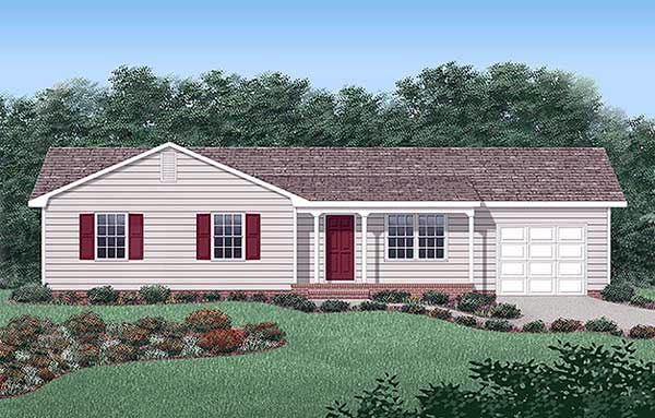 Ranch House Plan 45265 Elevation
