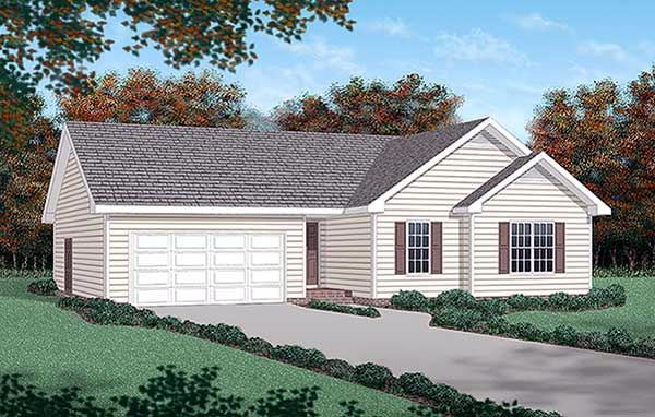 Traditional House Plan 45273 Elevation