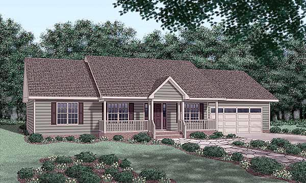 Ranch House Plan 45276 Elevation