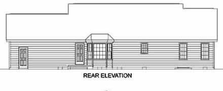 Ranch House Plan 45276 Rear Elevation