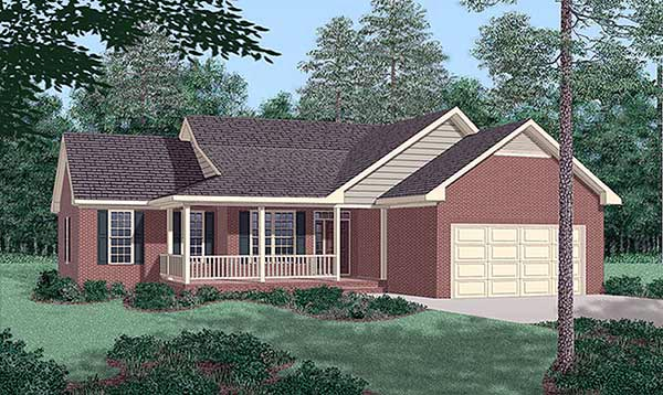 Traditional House Plan 45278 Elevation