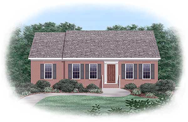 Ranch House Plan 45279 Elevation