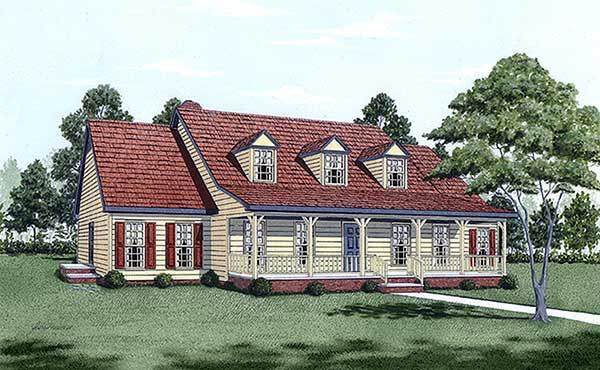 Cape Cod Country House Plan 45282 Elevation