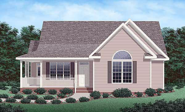 Traditional House Plan 45290 Elevation