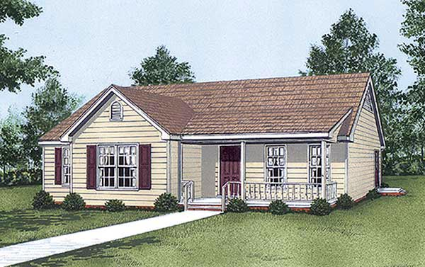 Ranch House Plan 45294 Elevation