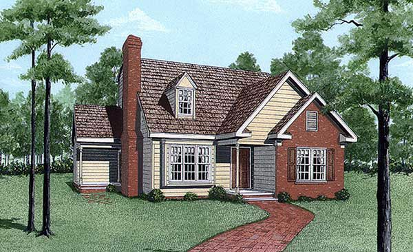 Cape Cod House Plan 45296 Elevation