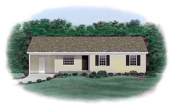 Elevation of Ranch   House Plan 45303