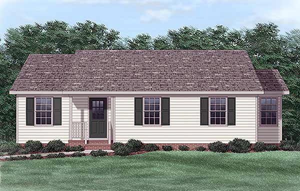 Ranch House Plan 45321 Elevation