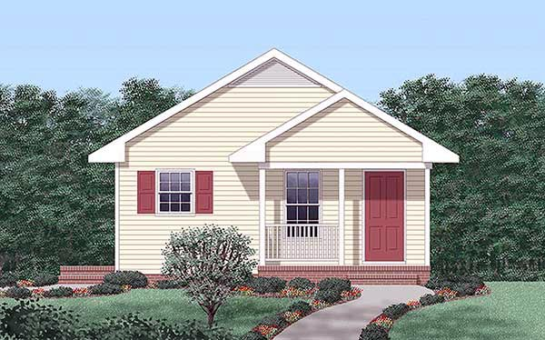 House Plan 45323 Elevation