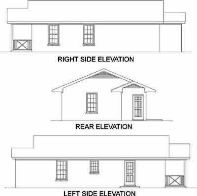 House Plan 45323 Rear Elevation
