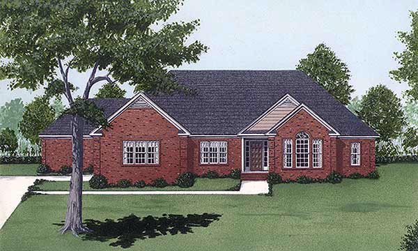 Traditional House Plan 45339 Elevation
