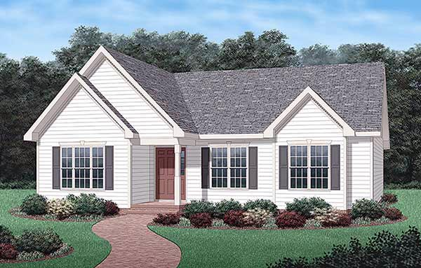 Traditional House Plan 45342 Elevation