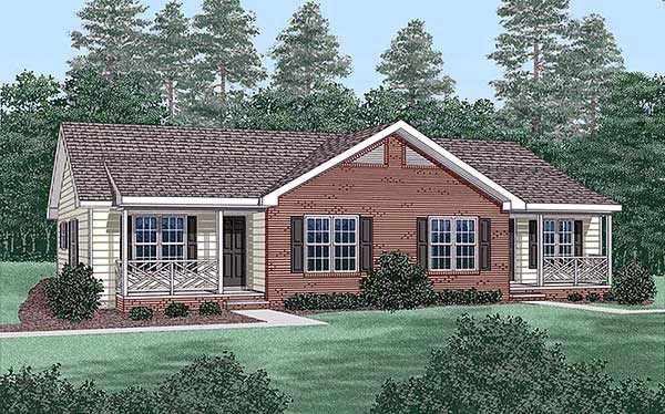 Multi-Family Plan 45365 with 4 Beds, 2 Baths Elevation