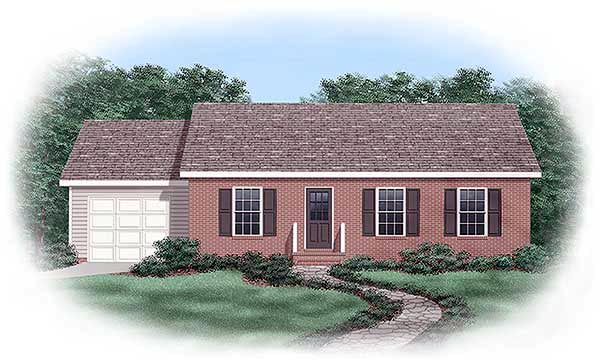 Ranch House Plan 45373 Elevation