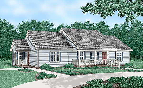 Ranch House Plan 45375 Elevation