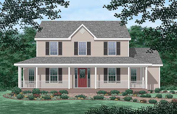 Country House Plan 45376 Elevation