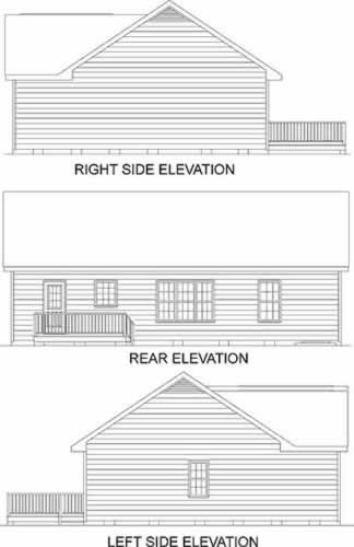 Traditional House Plan 45377 Rear Elevation