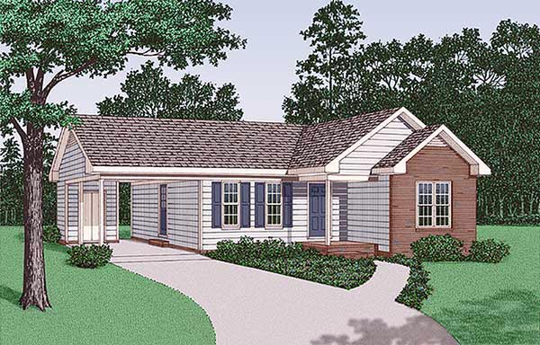 Ranch House Plan 45381