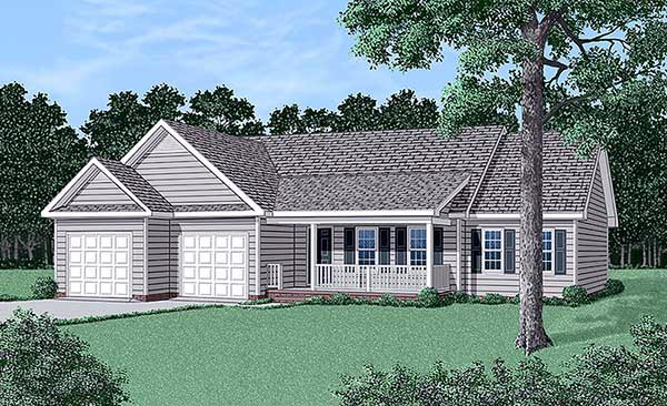 Ranch House Plan 45383 Elevation