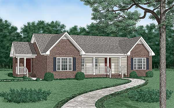 Traditional House Plan 45385 Elevation