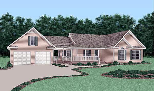 Ranch House Plan 45386 Elevation
