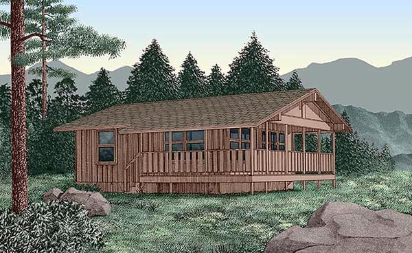 Country House Plan 45394 Elevation