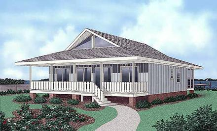 Contemporary House Plan 45402 with 4 Beds, 2 Baths