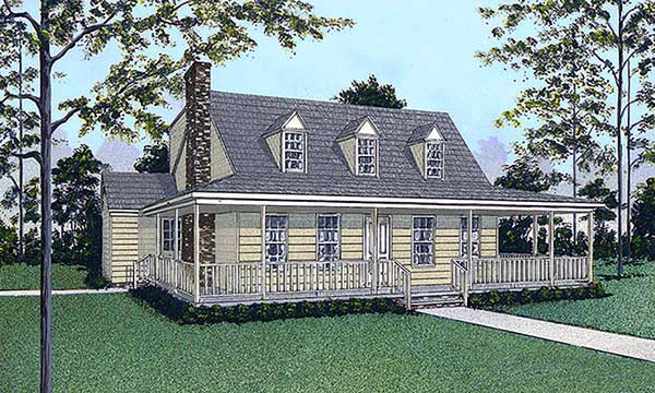 Cape Cod House Plan 45405 Elevation