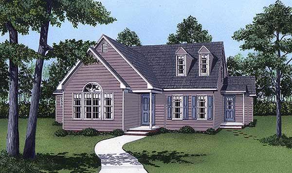 Cape Cod House Plan 45412 Elevation
