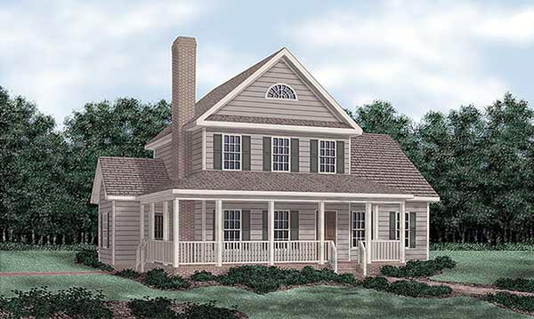 Farmhouse House Plan 45414 with 3 Beds, 3 Baths Elevation