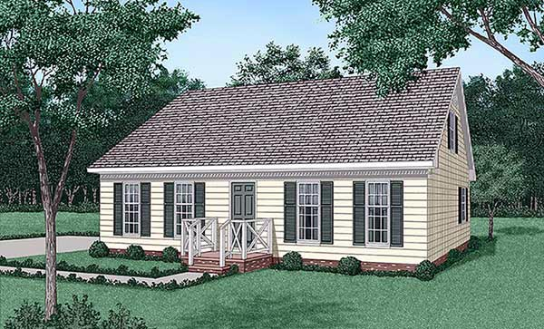 Ranch House Plan 45417 Elevation