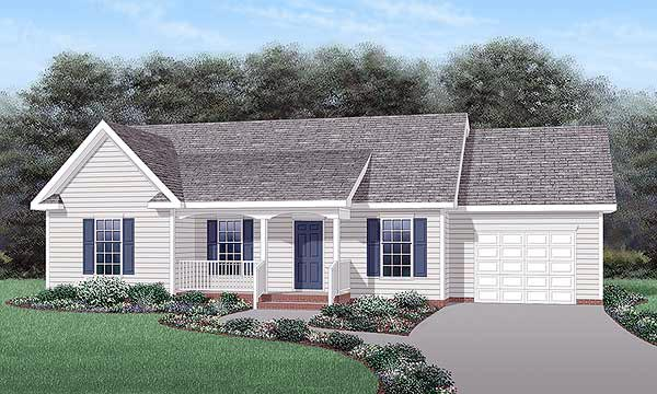 Ranch House Plan 45420 Elevation