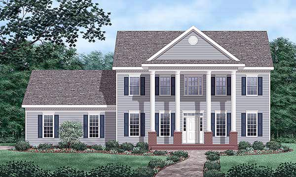 Colonial House Plan 45431 Elevation