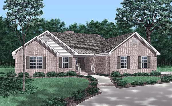 Traditional House Plan 45438 Elevation