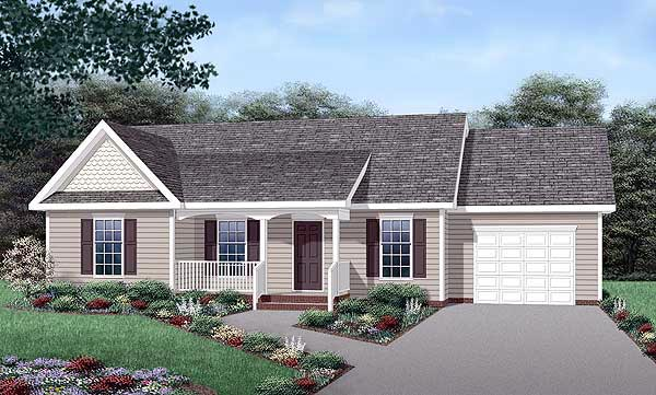 Country House Plan 45455 Elevation