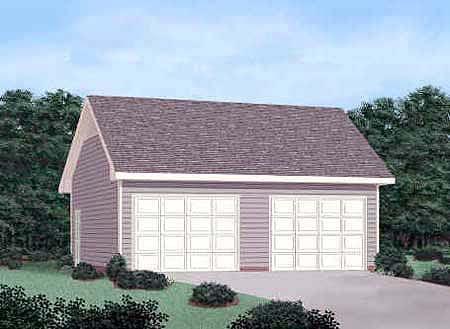 2 Car Garage Plan 45465 Elevation