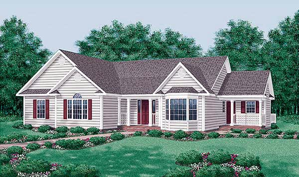 Elevation of Traditional   House Plan 45469