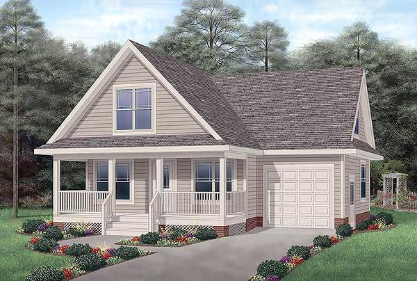 Traditional House Plan 45475 Elevation