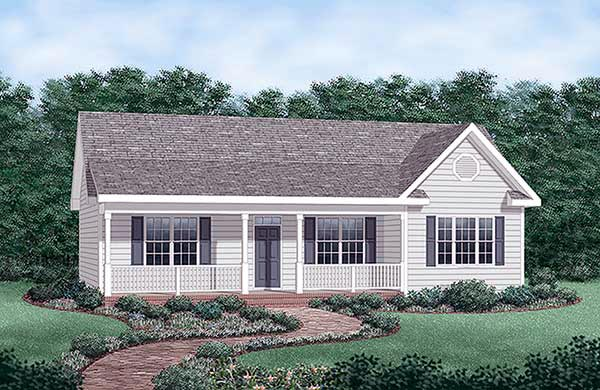 Ranch House Plan 45476