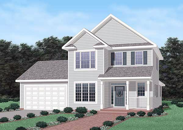 Traditional House Plan 45484 Elevation