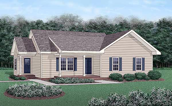 Ranch House Plan 45485 Elevation