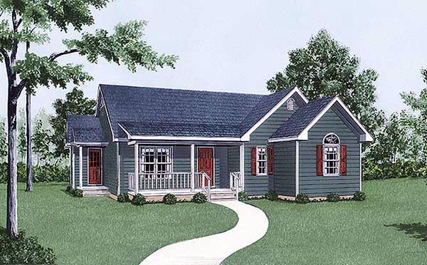 Ranch House Plan 45489 Elevation